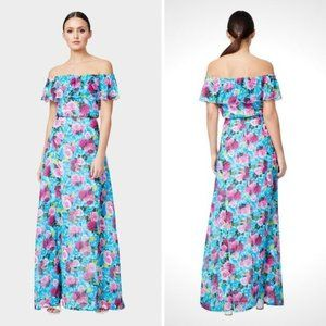Drowning Roses Off-the-Shoulder Maxi Dress
